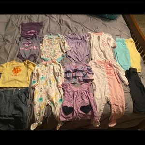 21 piece girl baby clothes bundle 6-12 months